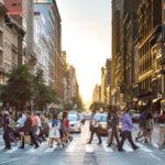 People Crossing Street in New York City